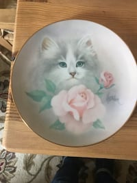 white and green ceramic plate Colts Neck, 07722