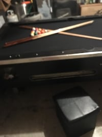 Black pool table 8X4 foot negotiable (commercial pool table) Ancaster, L9K 1K9