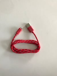 red lightning to USB cable, fast charging iPhone cables