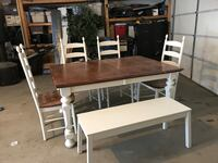 Rustic dining table set Calgary, T2A 4M7