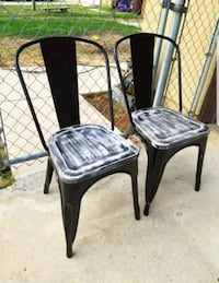 2 Brand New Metal And Wood Chairs $50 for both  Moreno Valley, 92551