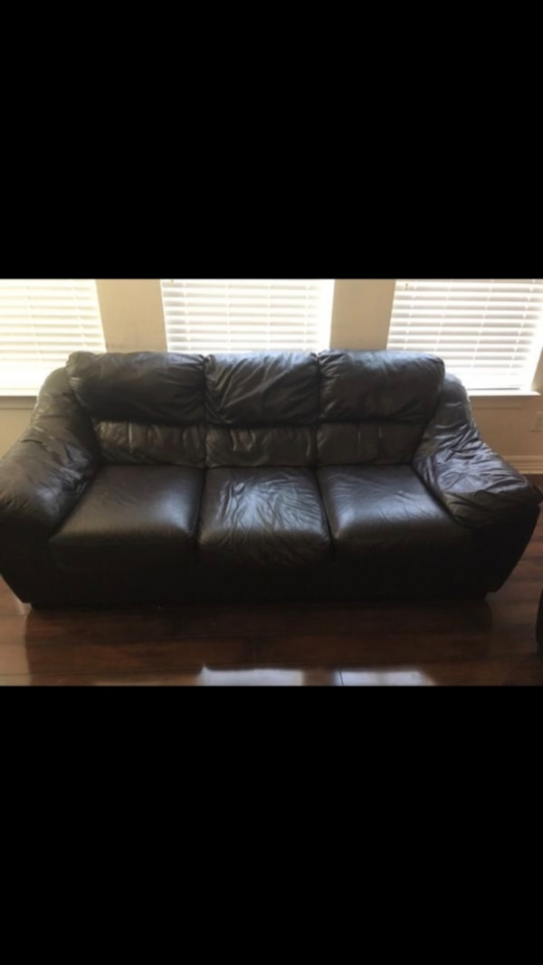 Used Black Leather Couch Set For Sale In Little Elm Letgo