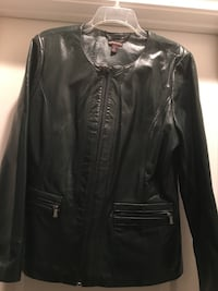 black leather zip-up jacket Columbus, 31909