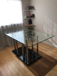 Glass Dining Table with Four Leather Chairs Takoma Park, 20912