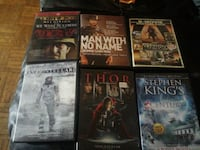 DVDS MOVIES SALE TOTAL 6  Mississauga, L5A 2J8