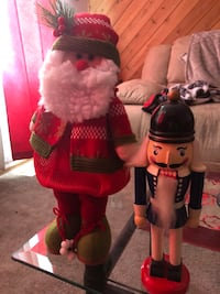 black and brown nutcracker and Santa Claus toy Gibbons, T0A 1N1