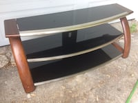 Wood and glass TV stand or hallway table New Tecumseth