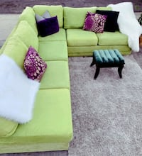 Beautiful Green Sectional, Delivery Available Las Vegas, 89104