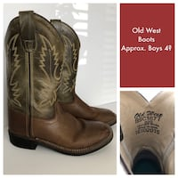 pair of brown leather cowboy boots Alexandria, 22314