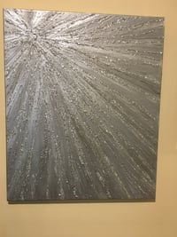 Glitter canvas painting