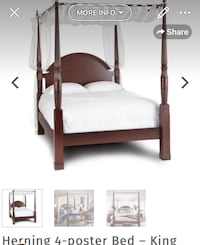 white and brown wooden bed frame Brampton, L6V 0Y1