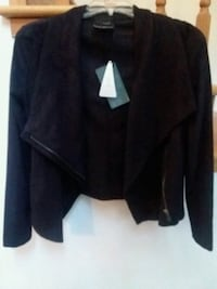 Black microsuede jacket