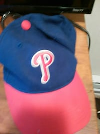 blue and red P print baseball cap New Castle, 19720