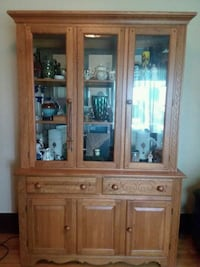 brown wooden framed glass display cabinet Syracuse, 13215