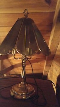 brass-colored lamp based with green lampshade Sykesville, 21784