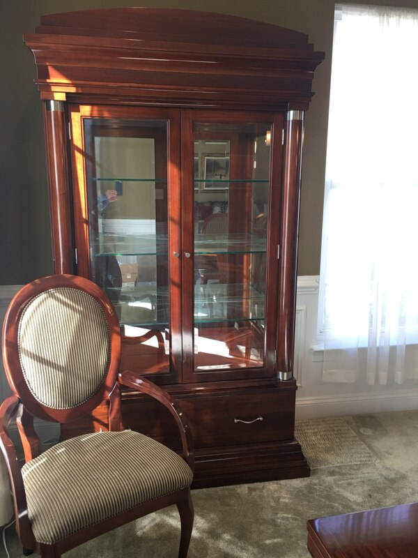 Dining Set (table, 8 chairs, & hutch) Must sell!! 1ba93977-a756-4051-8c91-aba7fe48043a