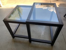 TWO Great  Wood & Glass Tables