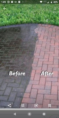 Big men's power washing Pikesville
