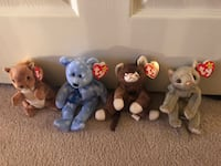 Rare Retired Beanie Babies with Tag errors Alexandria, 22310
