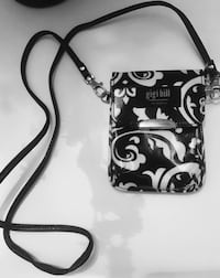 black and white leather crossbody bag Riverside, 92508