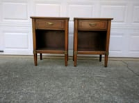 2 Mid-Century nightstands / bedside tables