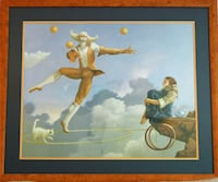 "Beautifully Framed ""The Juggler"" MICHAEL PARKES Print 37"" x 31.5"" Gaithersburg"