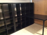 IKEA black/brown 3 piece desk and cube unit. Non smoking home Langley, V3A 1R2