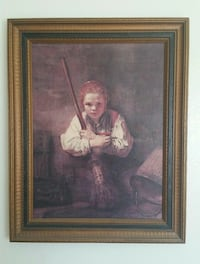 """""""Girl With A Broom"""" Painting Ventura, 93003"""