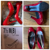 7.5 Red Patent Leather heels, never worn  Baltimore, 21201