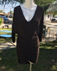Brown stretchable dress