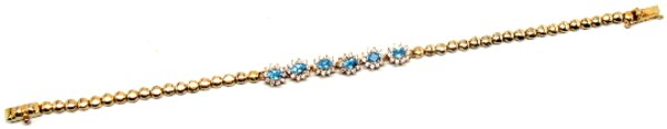 Ladies Vintage Topaz & Diamond Bracelet