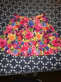 Pink and blue floral print skirt San Antonio, 78249