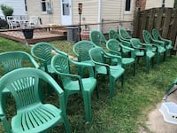 13 Party Chairs or Lawn Chairs. $75 OBO Dearborn, 48124