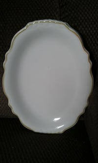 white ceramic plate with bowl null