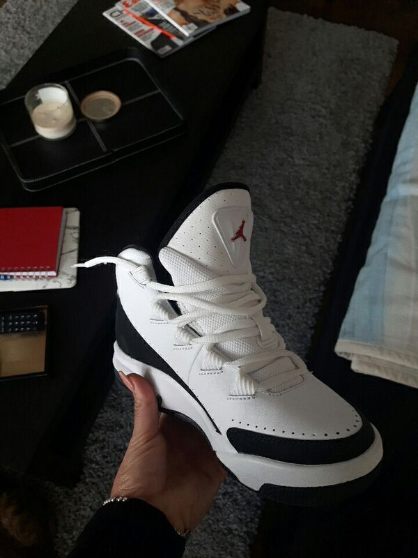 lowest price 7f47a 4defc white and black air jordan shoes(girl)size 6