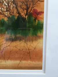 1940's  P. Chan painting on silk