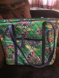 Green, pink, and yellow floral tote bag Aberdeen, 98520