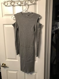 Grey body-con dress