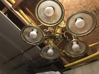 Brass-colored forged downlight 5-light chandelier North Haven, 06473