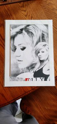 Kelly Clarkson Poster With Concert Ticket