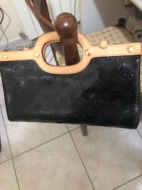 Tote bag in pelle monogram nera louis vuitton Roma, 00185
