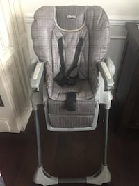 Baby's gray and white highchair Chantilly, 20151