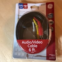 Audio/Video Cable 6ft long  Brand: GE West Hollywood, 90069