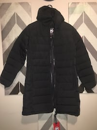 black zip-up bubble jacket Calgary, T2Y 4V4