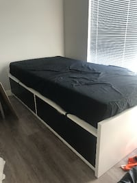 Twin bed frame with storage. Firm mattress included 3750 km
