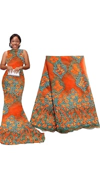 women's orange and brown floral sleeveless dress Riverdale Park, 20737