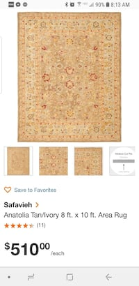Safavieh 8'x10' Anatolia Area Rug AN522B Brand New Retails for $510 Manassas, 20112