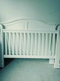 baby's white sleigh  wooden crib Clearwater, 33755