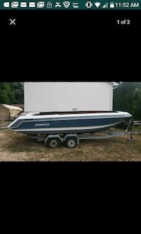 Boat Hull with dual axle trailer titles in hand Lanham, 20706