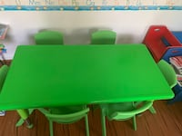 green and yellow plastic table Accokeek, 20607
